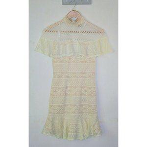 Angel Biba Pencil High Neck Lace Dress